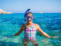 Girl Snorkeling Royalty Free Stock Image