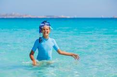 Girl snorkeling Royalty Free Stock Image
