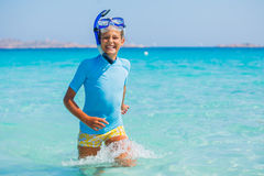 Girl snorkeling Royalty Free Stock Photos