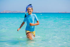 Girl snorkeling Stock Images