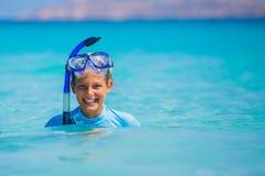 Girl snorkeling Stock Photography