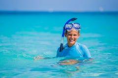 Girl snorkeling Royalty Free Stock Photo