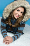 Girl in Snow. Pretty teen girl in snow Stock Photography