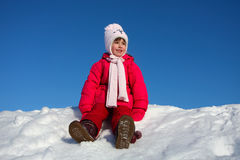 The girl on snow royalty free stock images