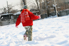 Girl in the snow Royalty Free Stock Image