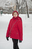 Girl with snow Stock Photos