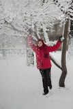 Girl with snow Stock Image