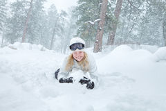 Girl in snow Stock Image