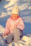 Girl on the snow Royalty Free Stock Photos