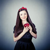 Girl, in snow white costume Royalty Free Stock Images