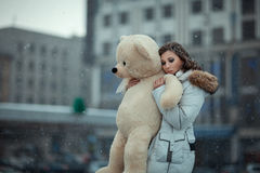 Girl in the snow. Royalty Free Stock Photos