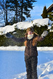 Girl in snow winter Stock Photography