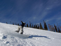 Girl on snowboard Stock Images