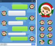 Girl_sns костюма Санта Клауса иллюстрация вектора