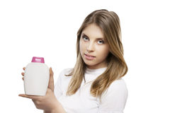 Girl with soap Stock Photography