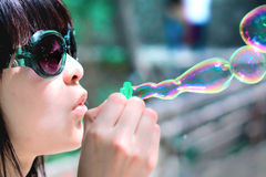 Girl with Soap bubbles  Stock Photos
