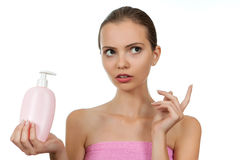 Girl with soap Stock Photo