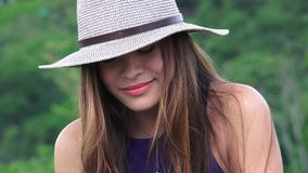 Girl Sobbing Sad Teen. Young pretty Colombian teen female Stock Photography