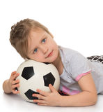 Girl with soccer ball Stock Photo
