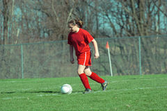 Girl at Soccer Field 13B Stock Photo