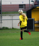 The girl soccer player Royalty Free Stock Images