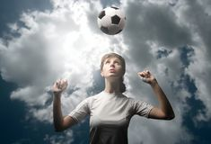 Girl soccer player Royalty Free Stock Image
