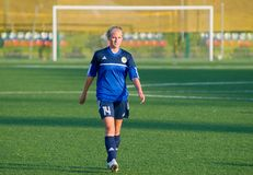 Girl - soccer-player Royalty Free Stock Image