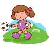 Girl soccer player Royalty Free Stock Photos