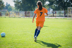 Girl soccer Royalty Free Stock Photo