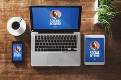 Girl social network profile Royalty Free Stock Photography