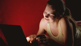 Girl and social networks stock footage