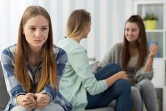 Girl with social problem Stock Photo