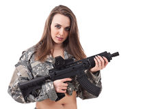 Girl soldier Royalty Free Stock Images