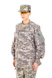 Girl - soldier in the military uniform Stock Image