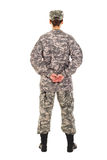 Girl - soldier in the military uniform Royalty Free Stock Photography
