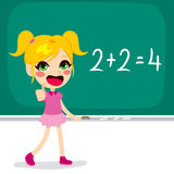 Girl Solving Maths Calculation Stock Photography