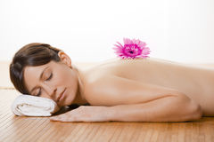 Girl on a Spa Stock Images