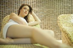 Girl in spa Royalty Free Stock Photography