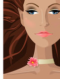Girl spa. Illustration vector of a apa girl Royalty Free Stock Images