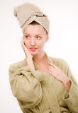 Girl in spa Royalty Free Stock Photo