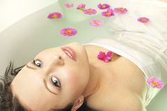 GIRL IN SPA Stock Image