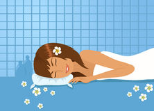 Girl in spa Stock Photos