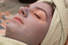 Girl in spa, Beauty center Stock Images