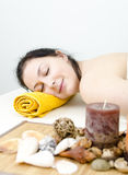 Girl in a spa center Royalty Free Stock Photography