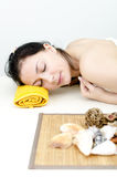 Girl in a spa center Stock Photography