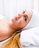 Girl in spa clinic Royalty Free Stock Photo