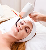 Girl  in spa clinic Stock Photo