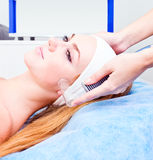 Girl  in spa clinic Stock Photography