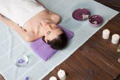 Girl Spa massage sauna relaxation bath Royalty Free Stock Image
