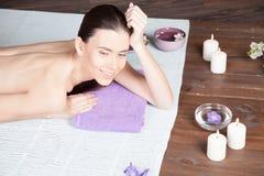 Girl Spa massage sauna relaxation bath Stock Image
